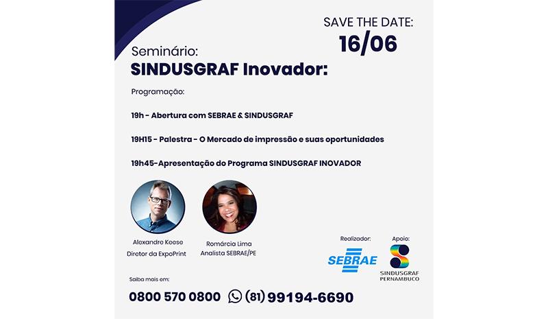 Projeto Sindusgraf Inovador é lançado em evento online